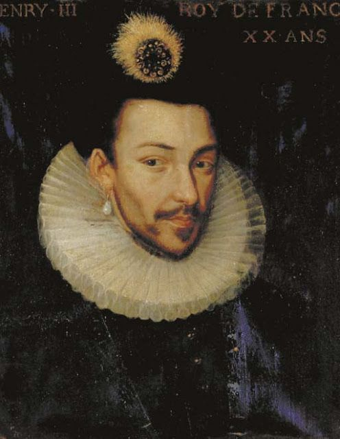 Henry III of France , 4th son of Henry II and Catherine de Medici B: 19 Sept 1551  D: 2 Aug 1589 King of Poland for a short time, Inherited the throne as King of France at the age of 22. Married to Louise of Lorraine. www.spikala.com