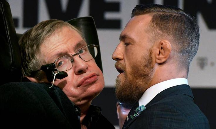 """Conor McGregor refuses to quit, offers Stephen Hawking a game of 'da physics' -- In a ground-breaking move, career punchist and all round feckin' lad Conor McGregor has revealed his plans to offer professor Stephen Hawking a game of """"da physics"""" just hours after his piss-takingly lucrative defeat at the hands of actual title-winning boxer Floyd Mayweather,... --  -- http://rochdaleherald.co.uk/2017/08/28/conor-mcgregor-refuses-to-quit-offers-stephen-hawk"""