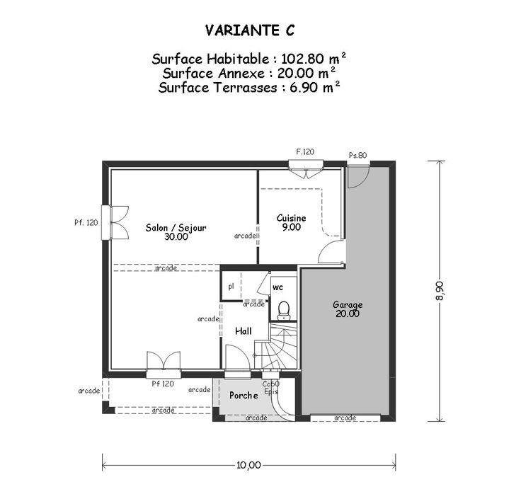 Plan Du Modle Fenouilldes With Prix Extension Maison 50m2