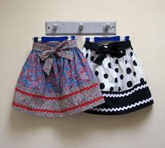 Girls easy skirt sewing pattern, KITTY SKIRT Sizes 2-12 years, includes 2 variations.