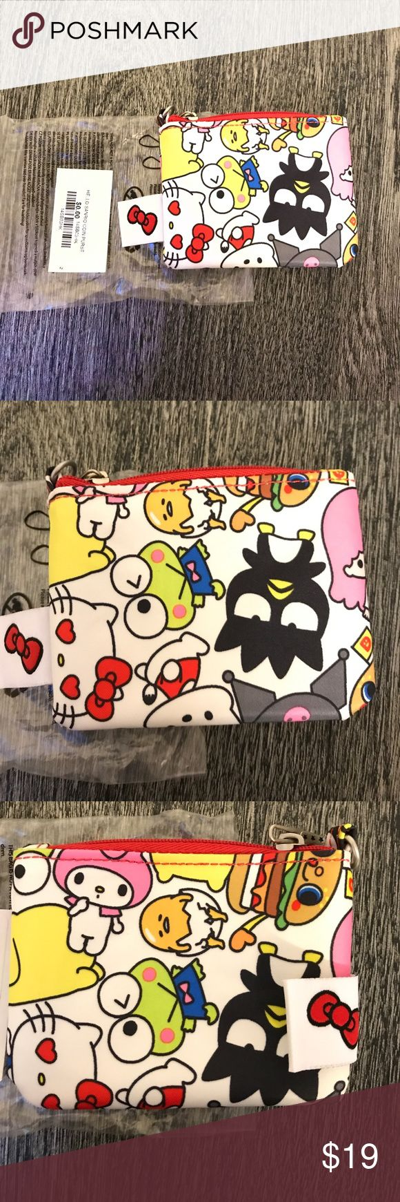 JuJuBe Hello Sanrio Coin Purse JuJuBe Hello Sanrio Hello Kitty Coin Purse. Accessorize your Diaper bag with these cute and functional bags. This little bag fits eos chap stick, cards, small toys, snacks, band aids...anything you like! . JuJuBe  Bags Baby Bags