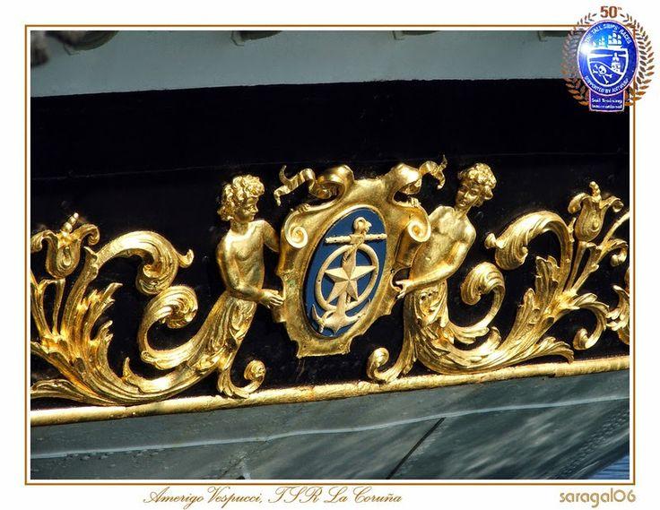 GRANDES VELEROS DEL MUNDO: El buque Amerigo Vespucci el mas grande del Mundo