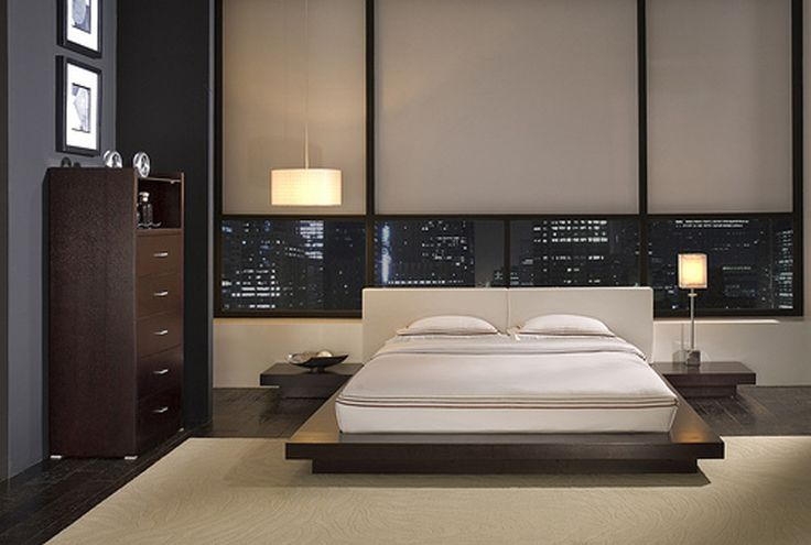 bedroom | Modern Bedroom Set This is an asian-inspired Worth king platform bed ...