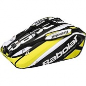 Babolat Aero Pro 12 Tennis Racquet Bag is a  unique 12-pack features a molded outer shell so it always keeps its shape. Made to the highest standard, this bag offers a very rugged construction. The molded design offers excellent protection for stored racquets and a thermal interior liner protects racquets against hot conditions.