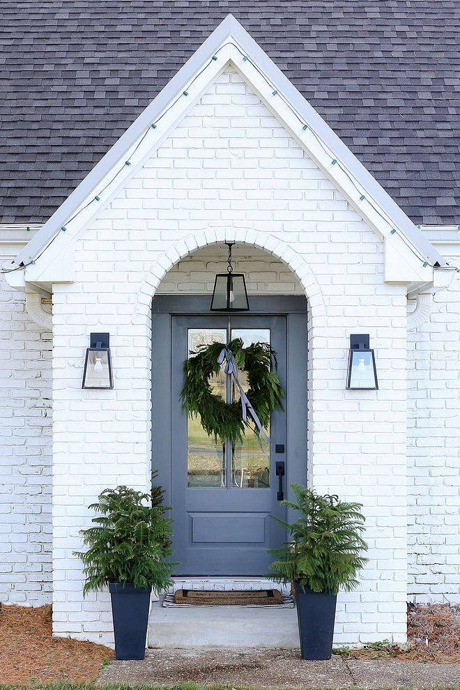 Sherwin Williams Sw 7005 Pure White Painted Brick Exterior