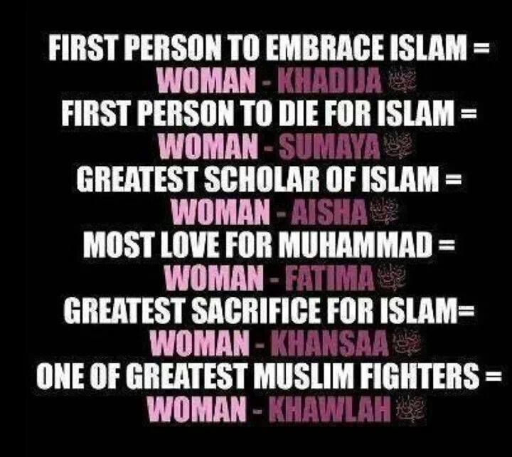 #womenempowerment #women in #islam #girlpower #khadijah #aisha #fatima # sumaya #muslims #muslimwomen #themuslimhomemaker #homemaker #inspiration #greatness  Check out the Facebook page: https://www.facebook.com/TheMuslimHomemaker