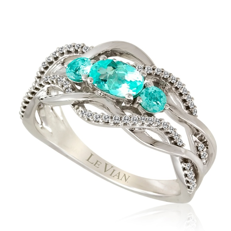 Gorgeous Neon Blue Paraiba Tourmaline Ring From Le Vian