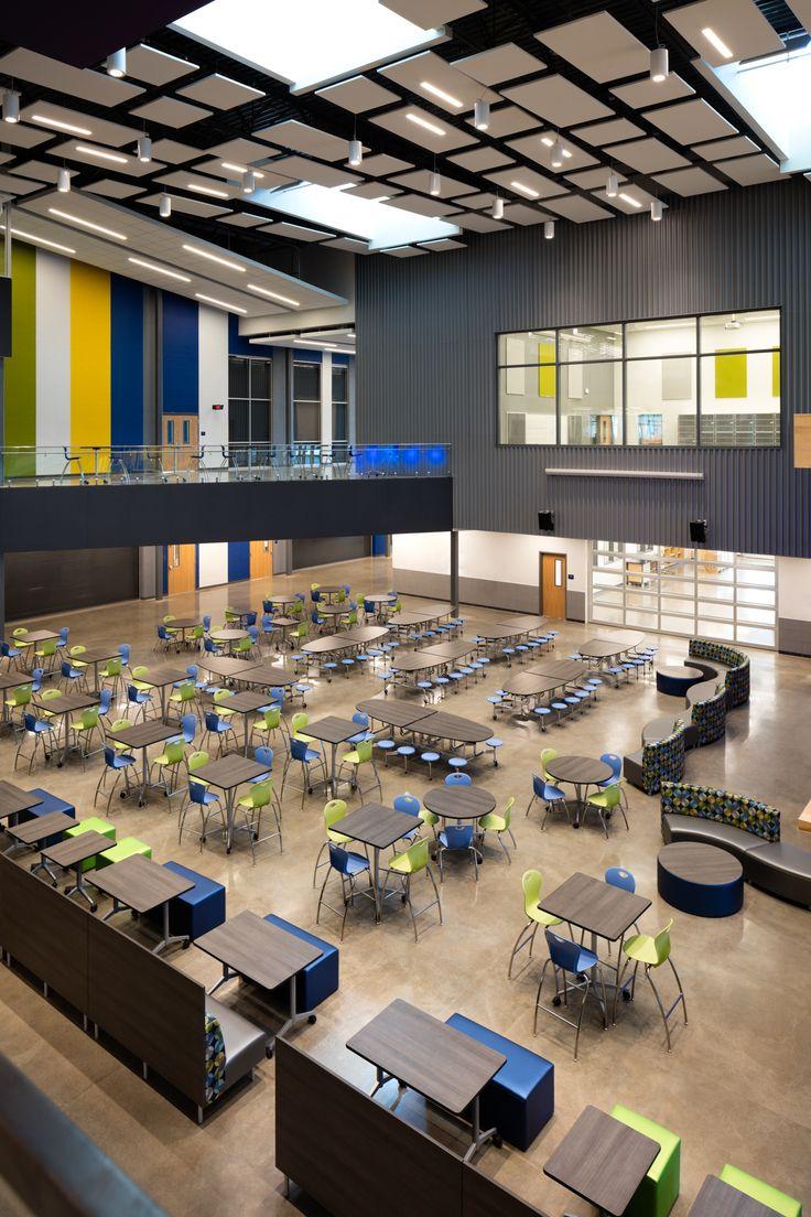 Modern and flexible school cafeteria | School building design, Cafeteria design, School building plans
