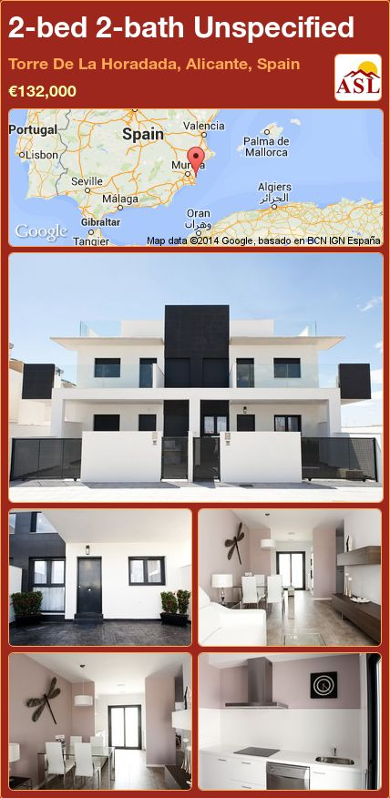 2-bed 2-bath Unspecified in Torre De La Horadada, Alicante, Spain ►€132,000 #PropertyForSaleInSpain