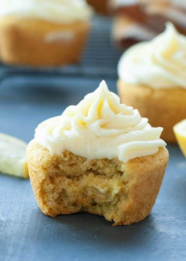 Gluten Free Vegan 3 Ingredient Lemon Cupcakes With Lemon Cream Cheese Frosting Recipe Fun Cupcake Recipes Lemon Cupcakes Savoury Cake