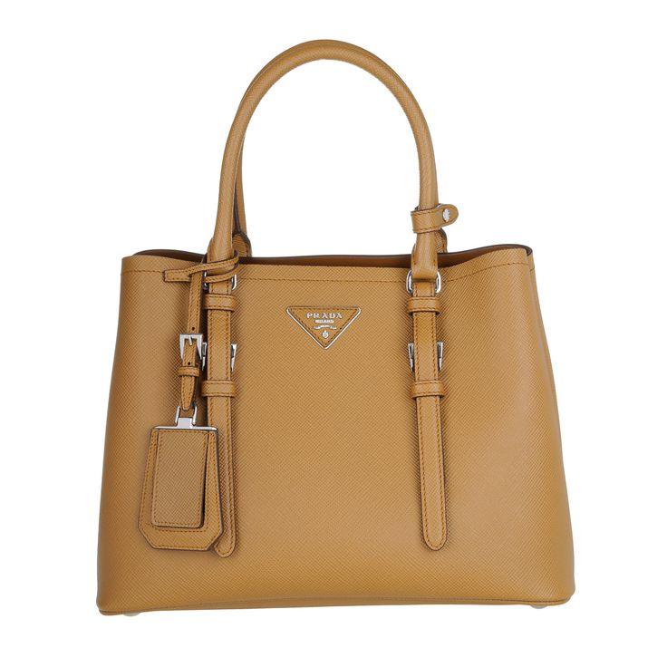 Prada Shopping Bag Saffiano Cuir Caramel at Fashionette