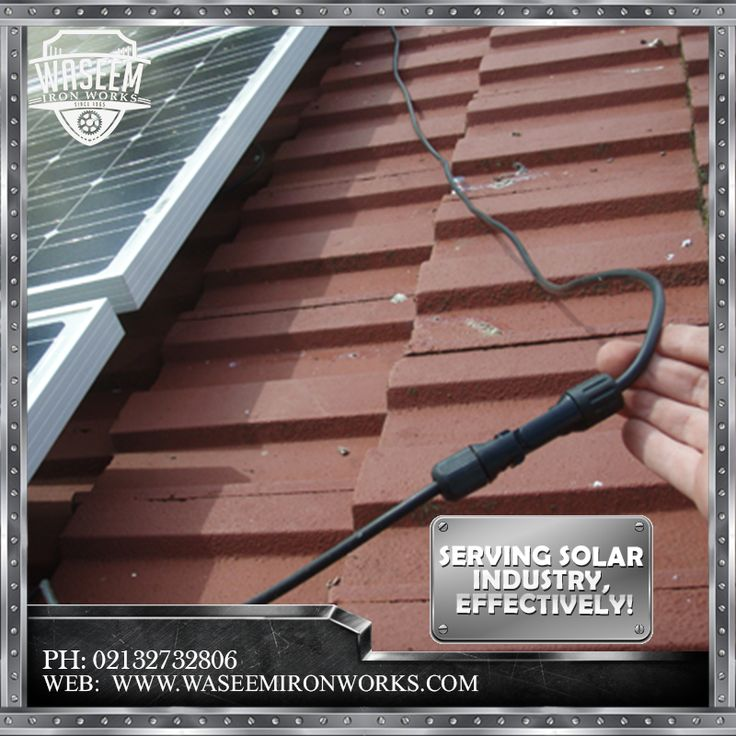 Encountering the needs of the solar industry we offer solar cable trays. With better and effective quality. For more Detail Contact us.  Phone: 02132732806 Mobile: 03213874707 Fax: 02132726624  Email: contact@waseemironworks.com Web: www.waseemironworks.com  #WaseemIronWoks #engeneeringServices #MsIron #MsSteel #Galvanized #Aluminium #Welding #Fabrications #DecorativeIronWork #BespokeIronWork #GatesandRailings #LogBurners #ArchitecturalFixings #IndustrialWorks