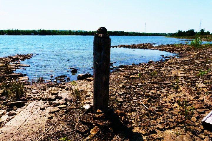 Strange pole on north channel