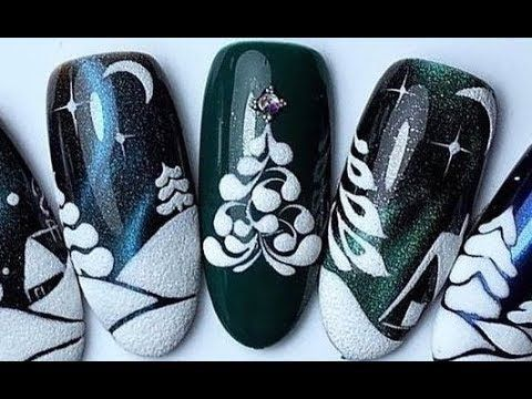 15 Christmas and New Year Nail Art Designs | Nail Art Tutorial Winter 2019 #36|B…