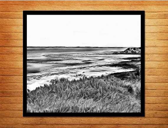 Black and white photography, ocean digital download printable. Shore Entrance - Made by Gia, $10.00  #madebygia #blackandwhitephotos #blackandwhitephotography #beachphotography #oceanphotography #blackandwhite #instantprints #instantphotography #digitaldownload