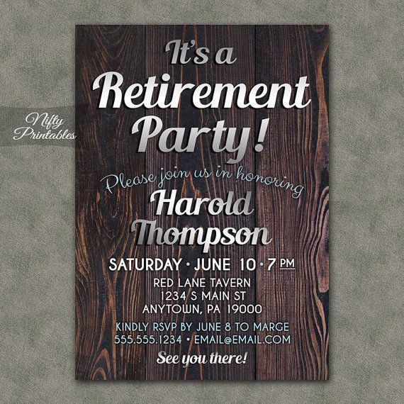 1000+ ideas about Retirement Party Invitations on Pinterest ...