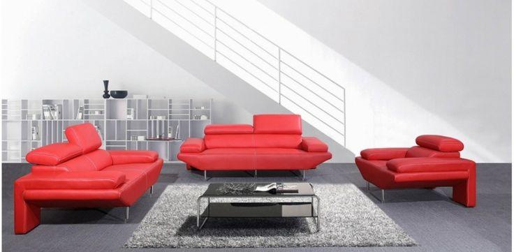 Italienisches Sofa Italienische Designermbel Wohnzimmer Set Rot