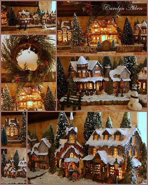 Christmas Village Decorations Ideas: 197 Best Christmas Villages Images On Pinterest