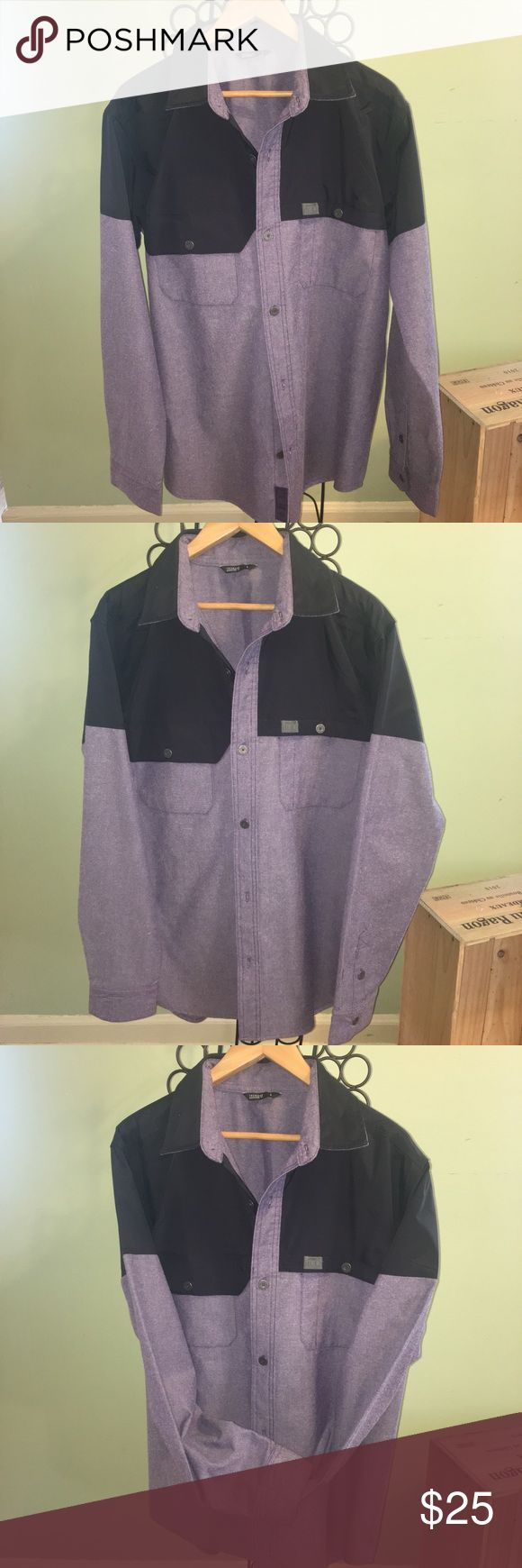 Trew Gear Backcountry Button Up - Sz Large 💘❤️VALENTINES SALE❤️💘This shirt is in GUC with no visible signs of flaws, only normal pre-owned wear. No holes, rips or stains. Trew Backcountry Button Up is the latest addition to a line of water-resistant snow apparel that travels from the city to the mountain with ease. The shirt is styled as a classic heritage work shirt, but the chest and shoulders are protected with a nylon taslan shell with a water-repellent coating. Polyester-and-wool…