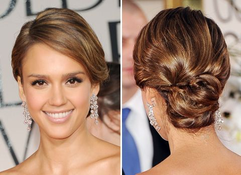 Jessica Alba updo  -I think want a little more wow in the back but I want that look in the front