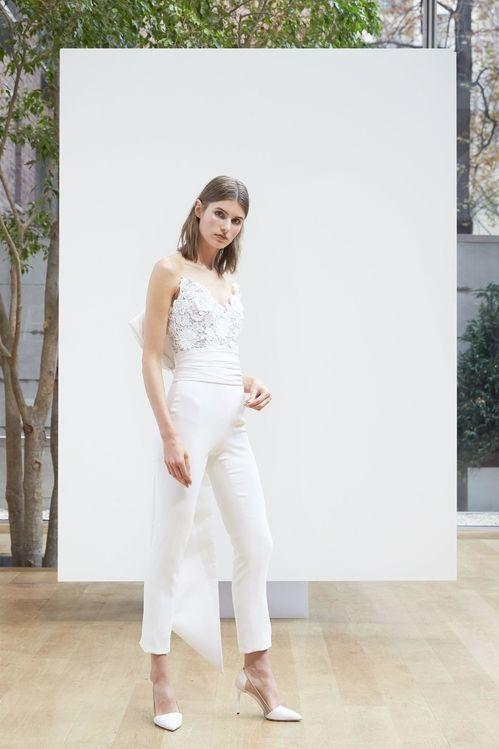 Combinaison issue de la collection bridal printemps-été 2018 d'Oscar de la Renta
