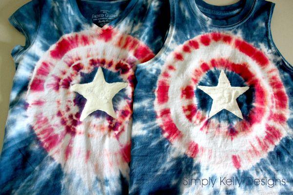 Captain America Tie Dye Shirts | Simply Kelly Designs #DIY