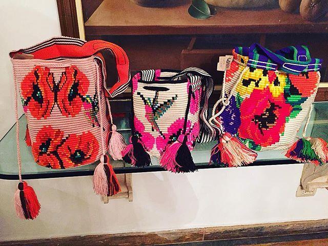 Flower Power Wayuu Mochila bag