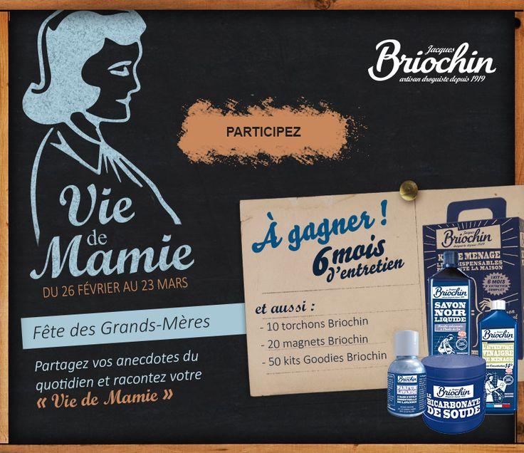 Jacques Briochin : jeu-concours pour la fête des Grands Mères - Vie de Mamie
