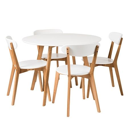 Norway Dining 5 Piece Package  White/Natural $799