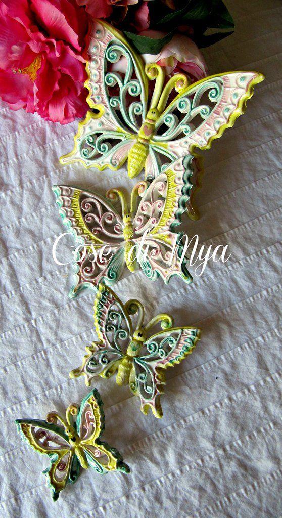 Coordinato Farfalle Ceramica, by COSE DI MYA, 50,00 € su misshobby.com