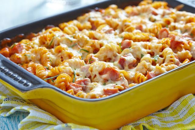 Βίδες με ζαμπόν, ντομάτες και τυριά στο φούρνο !!! ~ ΜΑΓΕΙΡΙΚΗ ΚΑΙ ΣΥΝΤΑΓΕΣ