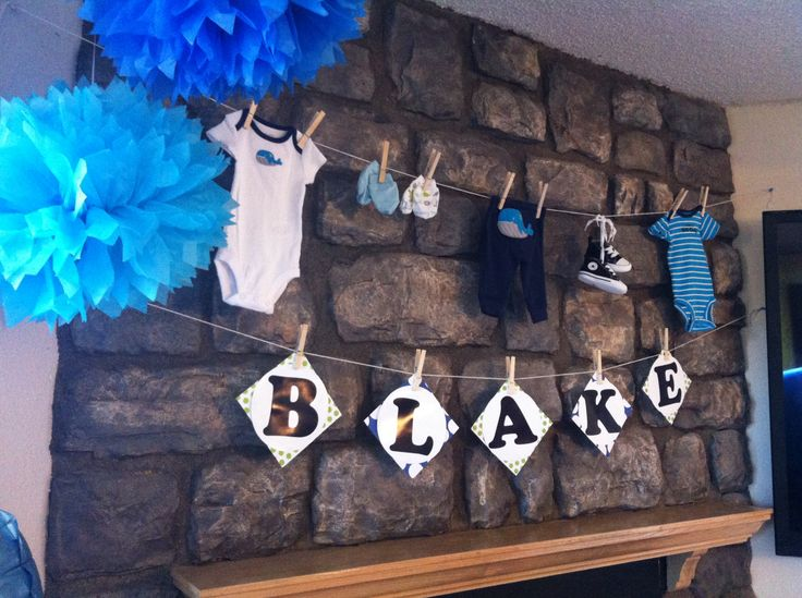 Baby Boy Babyshower Decor!! But with color pink or fuschia for girl.