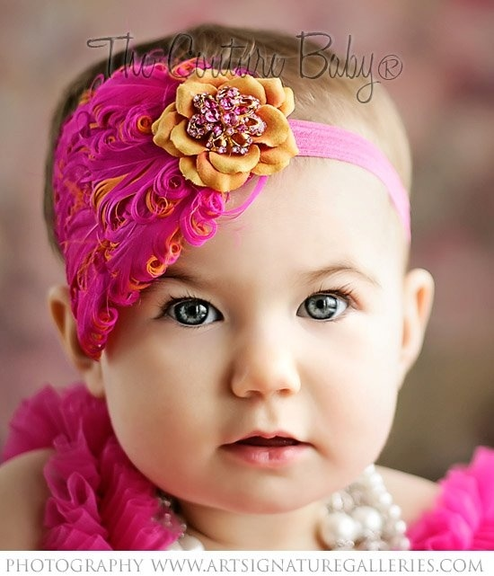 Strawberry Cantaloupe Headband from The Couture Baby