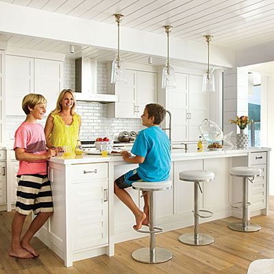 White and Bright Kitchen - House Tour: Stunner by the Bay - Coastal Living