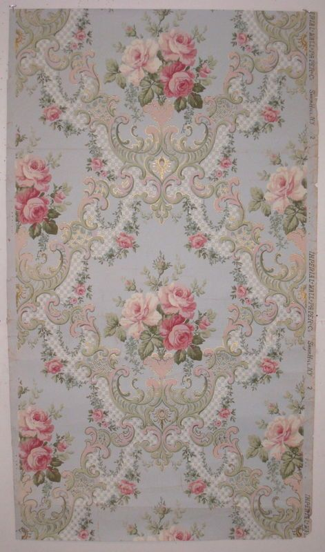 19th century american floral wallpaper