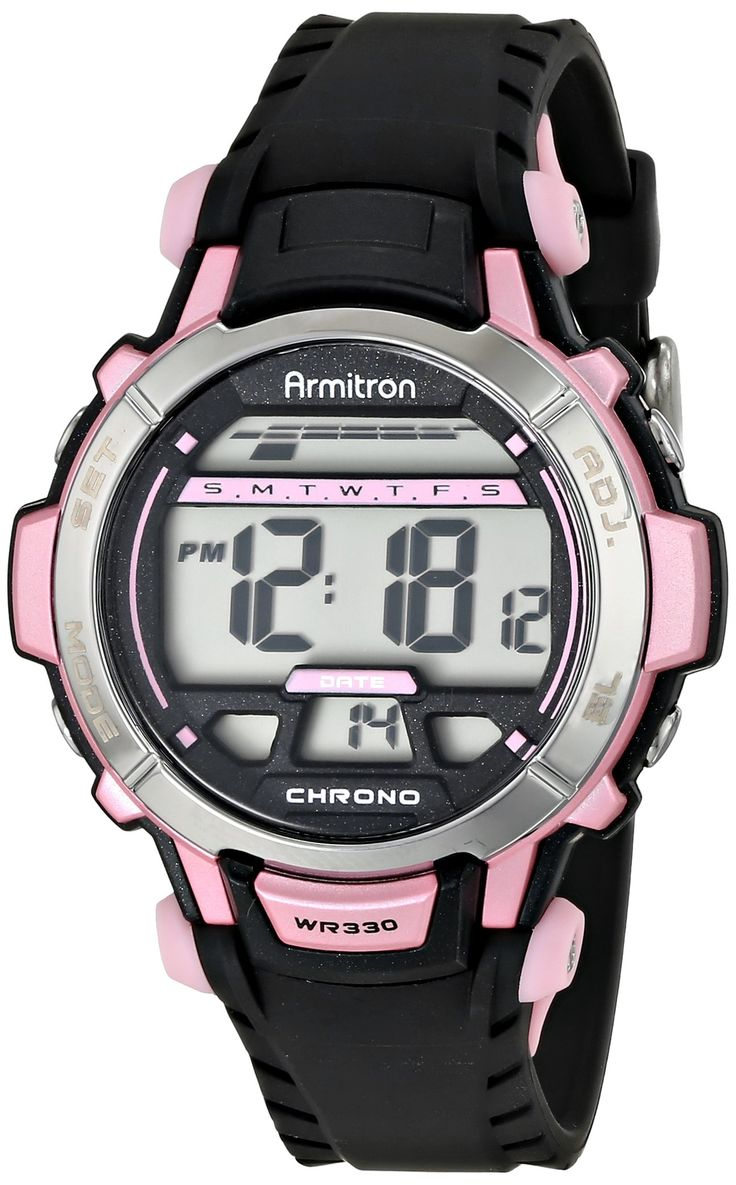 Armitron Sport Women's 45/7036PNK Pink Accented Black