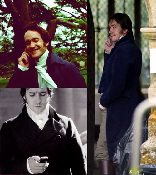 """Darcy pops in and out of the film, so I wasn´t there for the whole time. I just sort of wandered around on set texting my wife, who was six months pregnant.""    (Matthew Macfadyen) CUTEST THING EVER"