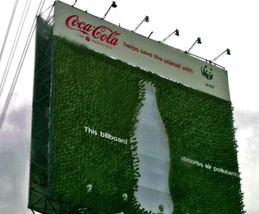Coke's billboard- an example of green marketing