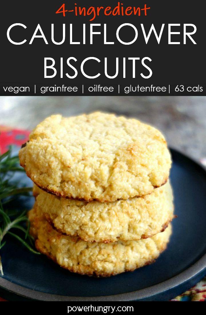 Vegan Cauliflower Biscuits 4 Ingredients Grain Free Oil Free