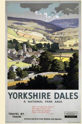 LNER Yorkshire Dales, England. c1935 by Ronald Lampitt