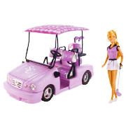 High School Musical Country Club Sharpay Golf This Sharpay doll is dressed in a country club outfit with matching golf clubs and bag. She also has a fabulous pink golf cart complete with her very own monogrammed sunshade and glitter-pink initials http://www.comparestoreprices.co.uk/dolls-clothes-and-accessories/high-school-musical-country-club-sharpay-golf.asp