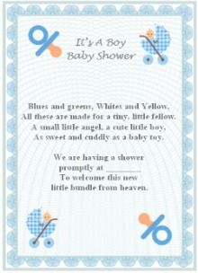 Amazing Baby Boy Poem (s)   Baby Shower Simplicity