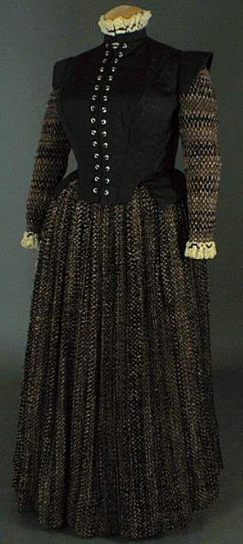 Mode Espagnole - Elisabèthaine, le costume féminin de 1550 à 1610