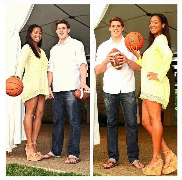 Basketball And Football Players | Black Women with White ...