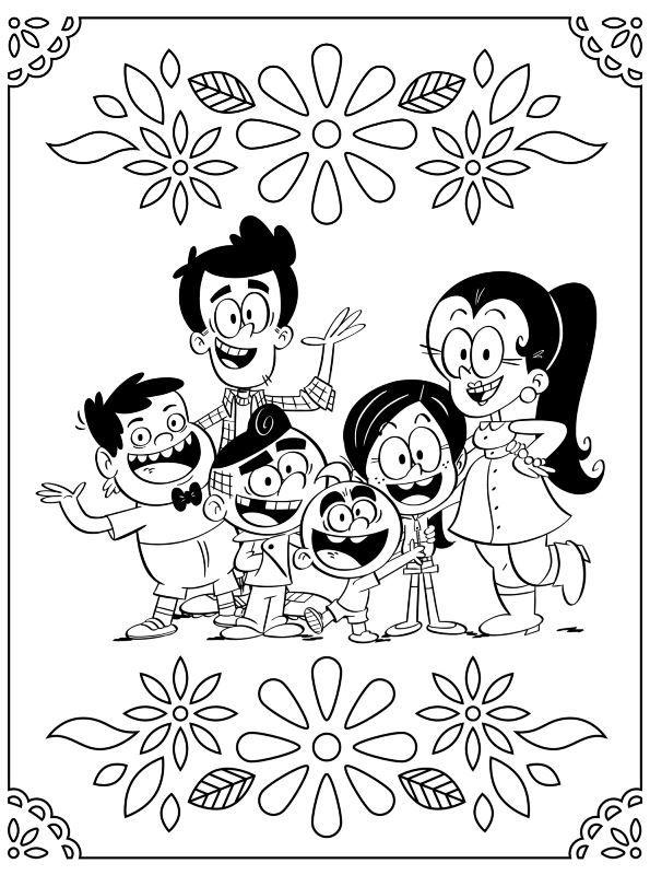Kids N Fun Com Coloring Page Casagrandes Casagrandes In 2021 Cool Coloring Pages Coloring Pages Fun Colors