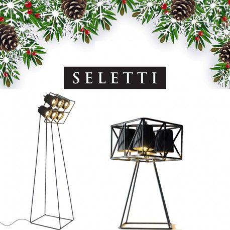 Il Pacco Natale Multilamp è un idea di regalo originale, è composto da 1 Lampada da tavolo Multilamp da 4 paralumi e una Lampada da terra Multilamp da 6 paralumi.