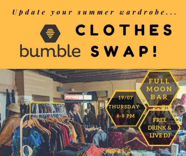 Bristol Bumble Clothes Swap at the Full Moon Bar on Thursday