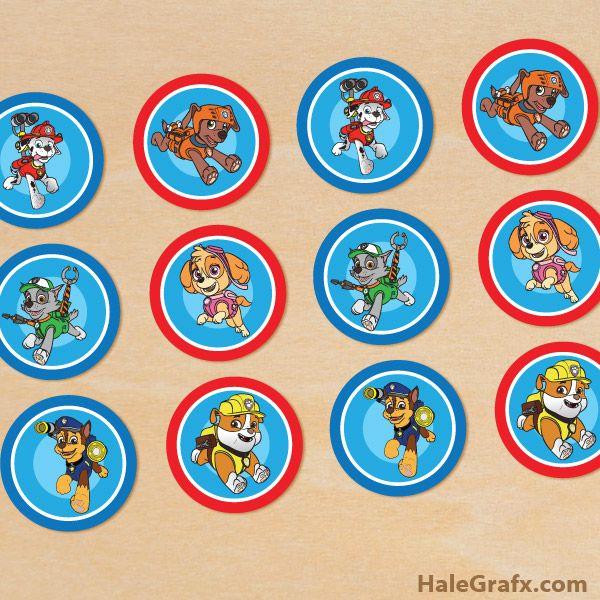 FREE Printable Paw Patrol Cupcake Toppers