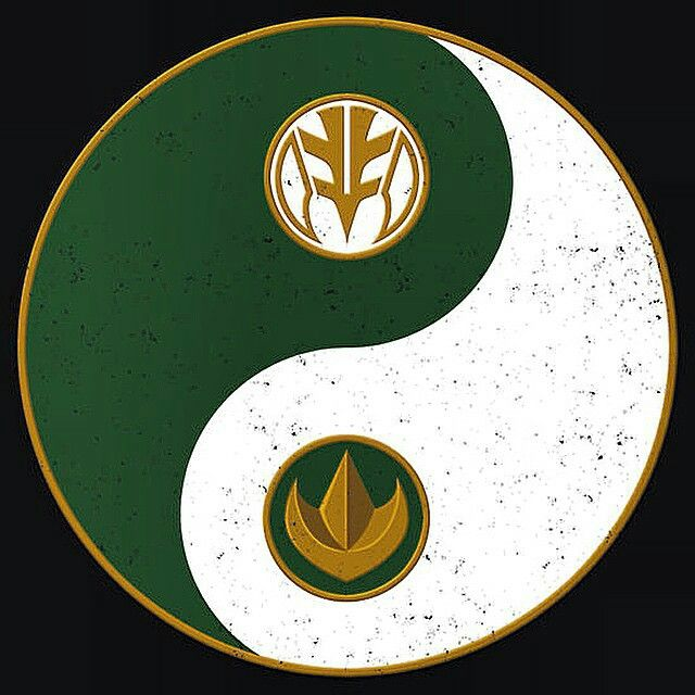 Green / White Ranger yinyang. Recommended Pin from: Aashani #SonGokuKakarot