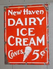 Love vintage enamel signs, looking for a really large one for over the sofa... any leads?